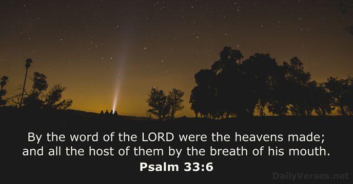 Psalms 33:6