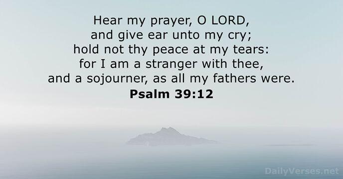 Psalm 39:12