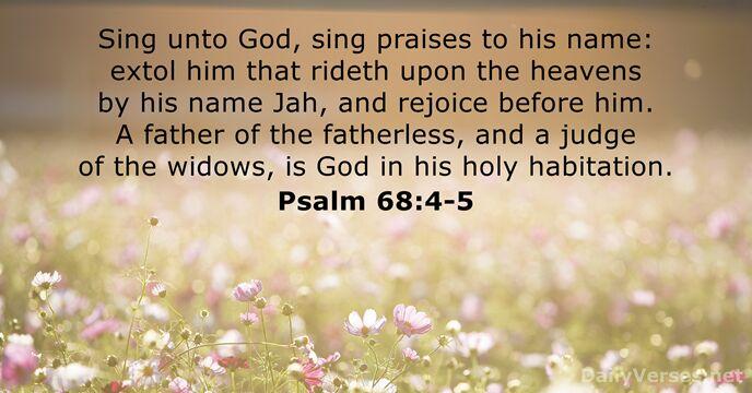 Psalm 68:4-5