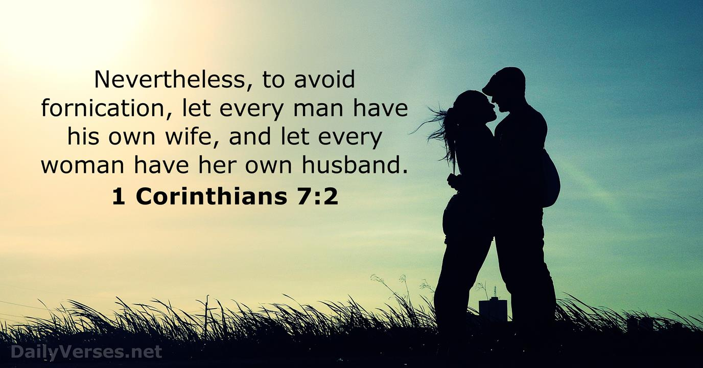 1 Corinthians 72 - Kjv - Bible Verse Of The Day -3210