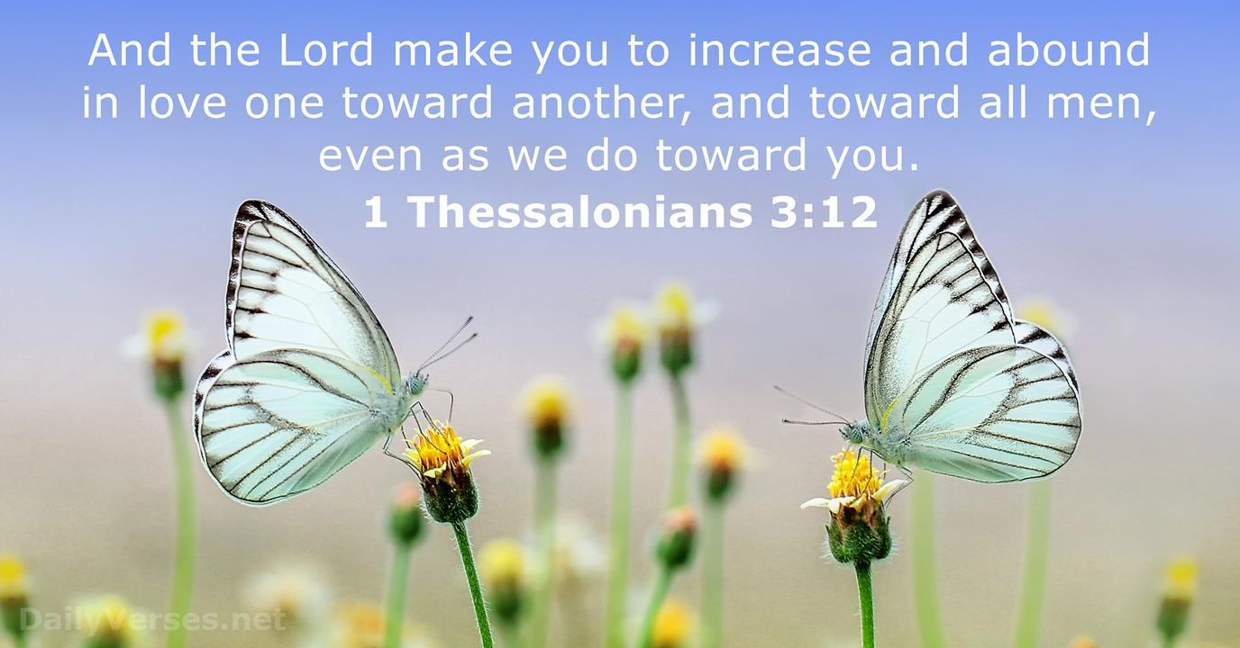 1 Thessalonians 3:12 - Bible verse (KJV) - DailyVerses.net