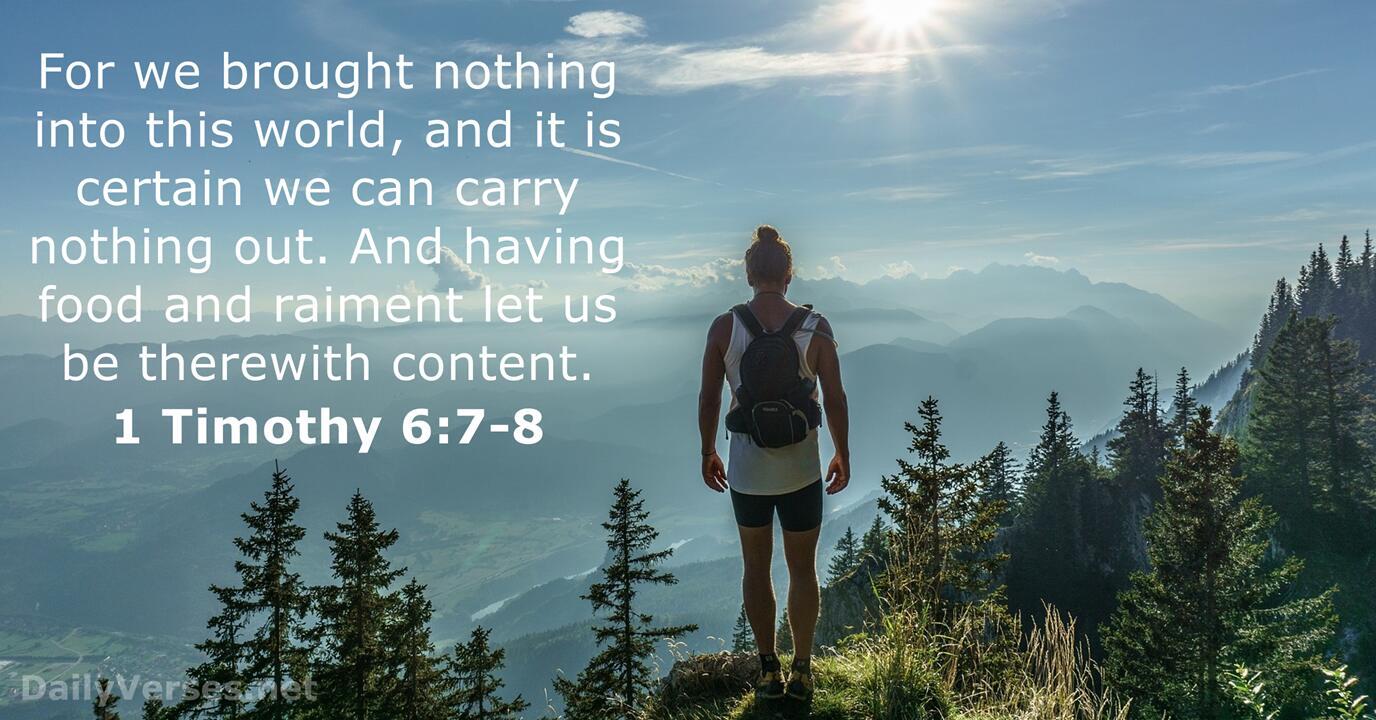 33 Bible Verses about Materialism - KJV - DailyVerses.net