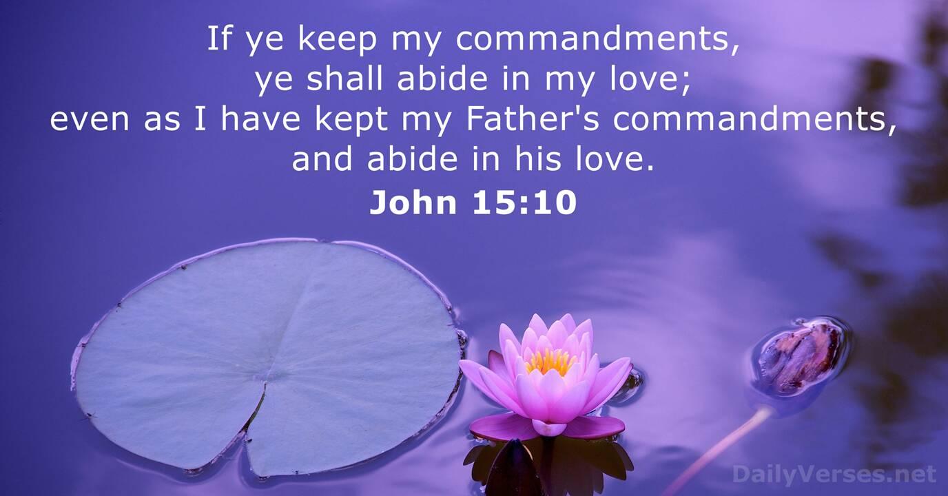 John 15:10 - Bible verse (KJV) - DailyVerses.net