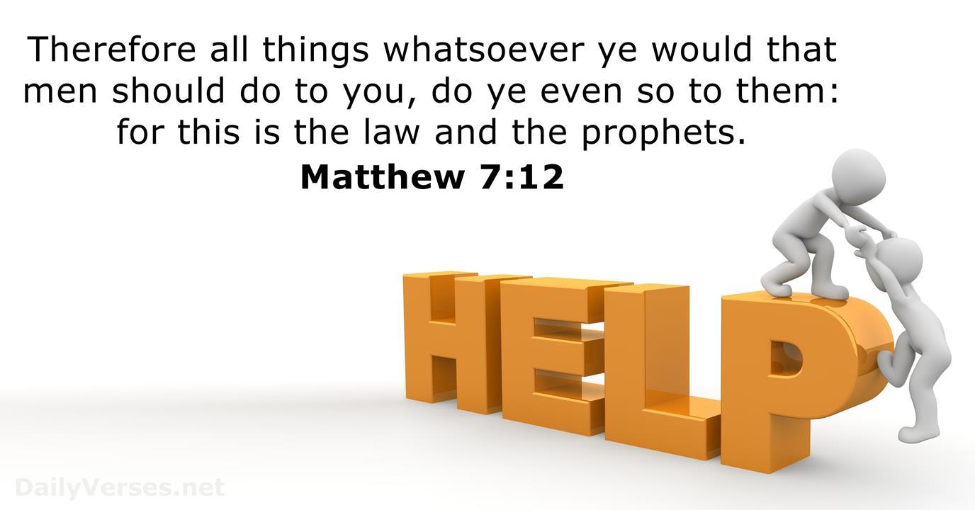 Matthäus 7,12