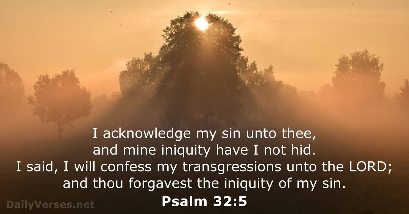 Psalm 32:5 - Bible verse (KJV) - DailyVerses.net