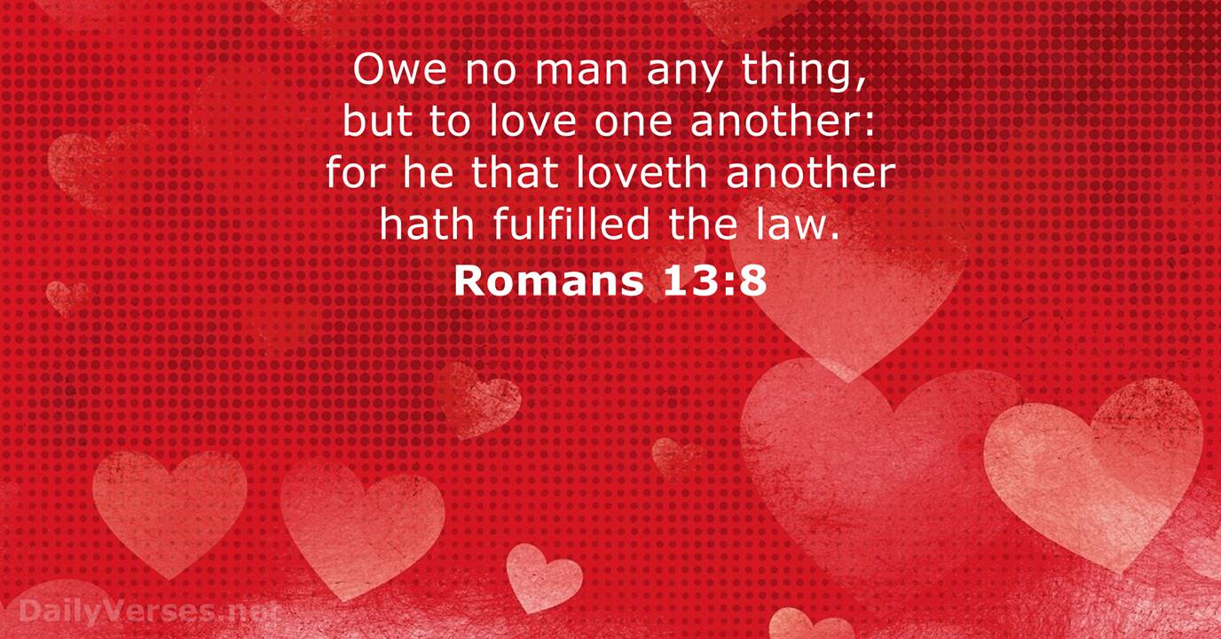Image result for Rom. 13:8
