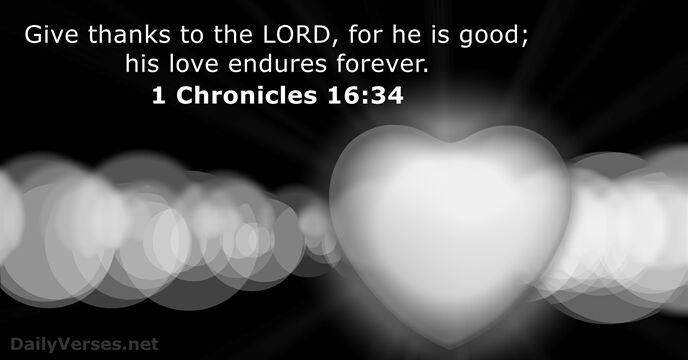 1 Chronicles 16:34