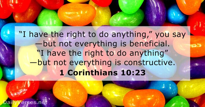Image result for 1 corinthians 1023