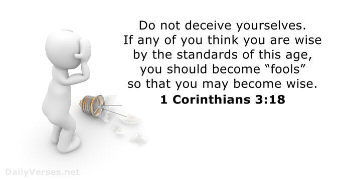 1 Corinthians 3:18