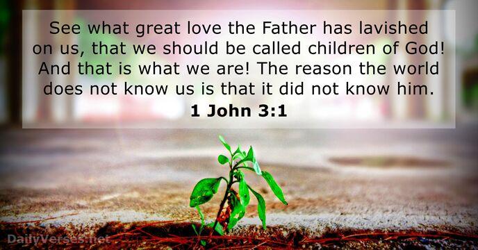 september 26 2017 bible verse of the day 1 john 31