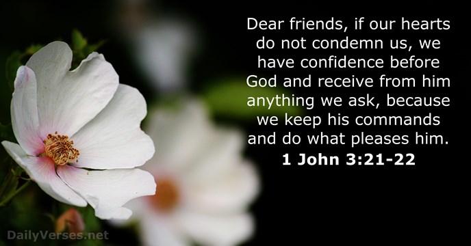 1-john 3:21-22