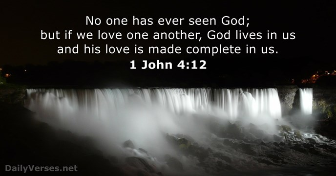 Image result for 1 john 4:12