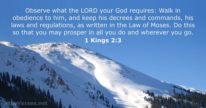 1 Kings 2:3 - Bible verse of the day - DailyVerses net