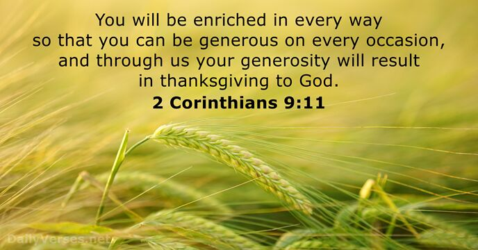 Image result for generosity bible quote