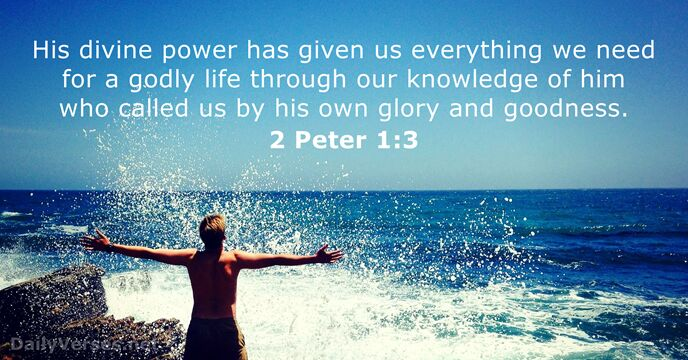 Image result for 2 peter 1:3