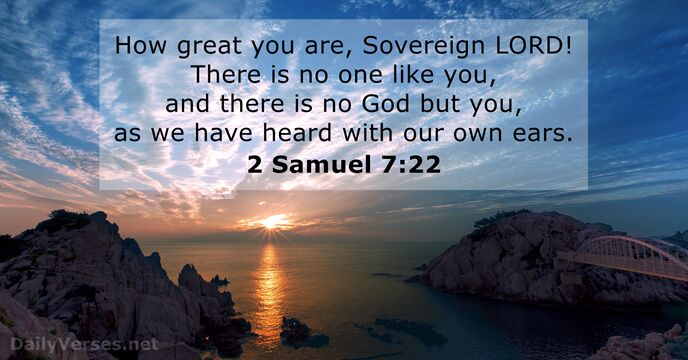 2-samuel 7:22 ...