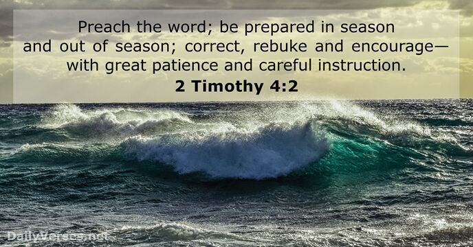 Image result for 2 timothy 4:2