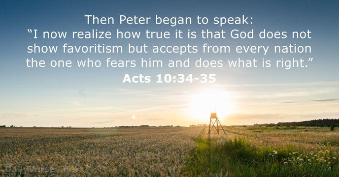 Acts 10:34-35