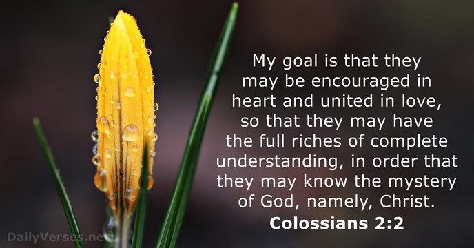 Colossians 2:2