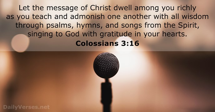 Colossians 3:16