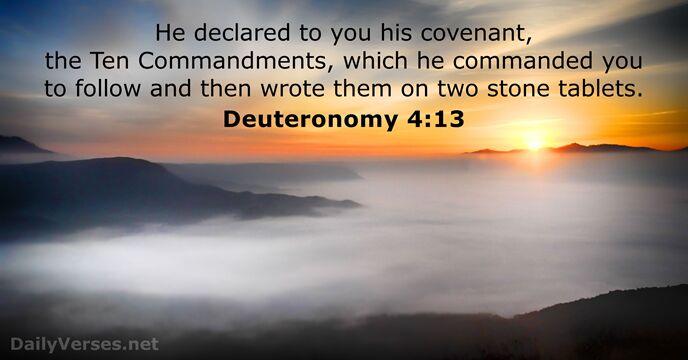 November 8 2018 Bible Verse Of The Day Deuteronomy 413