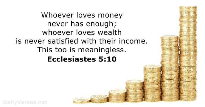 16 Bible Verses about Greed - DailyVerses net