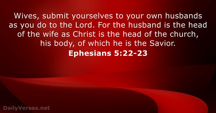 september 25 2016 bible verse of the day ephesians 5 22 23