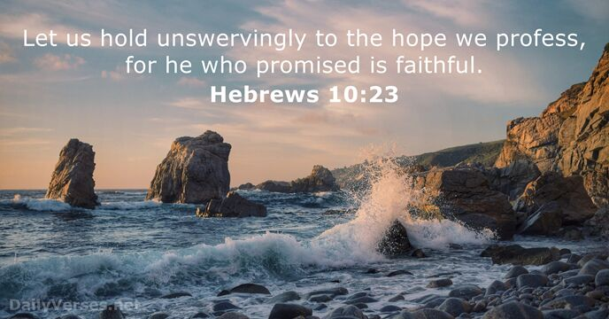 Image result for image Hebrews 10:23Bible