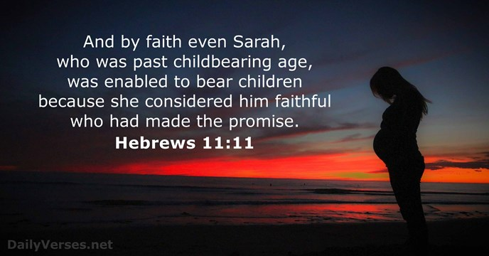 Image result for Hebrews 11:11