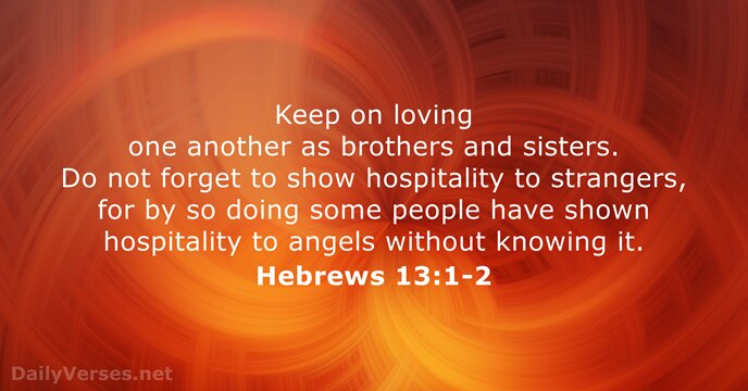 Hebrews 13:1-2