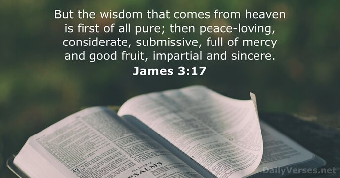 James 3:17 - Bible verse of the day - DailyVerses.net