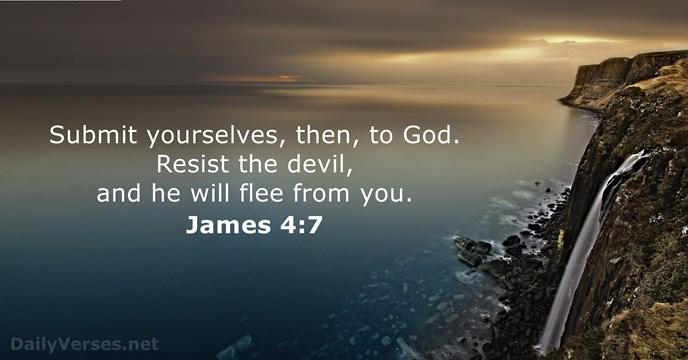 Image result for resist the devil and he will flee kjv