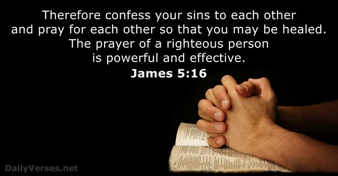 13 Bible Verses about Confession of Sin - NIV & KJV