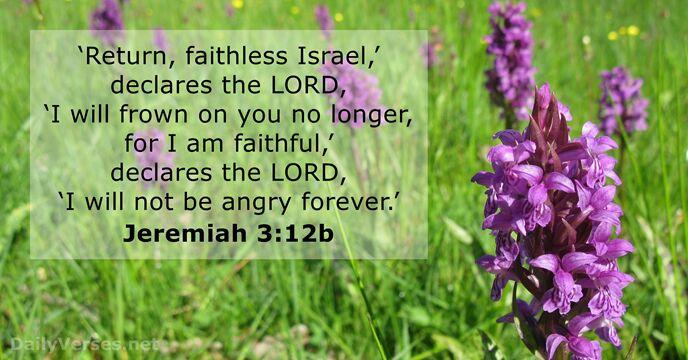 Jeremiah 3:12b