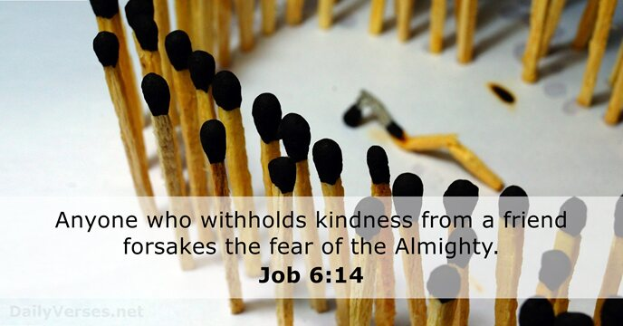 job 6 14 - bible verse of the day