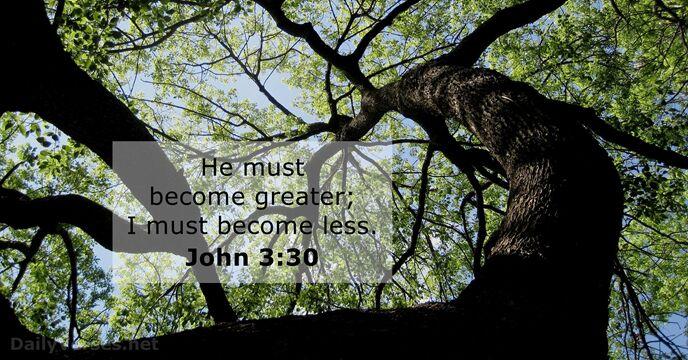 john 3 30 - bible verse of the day