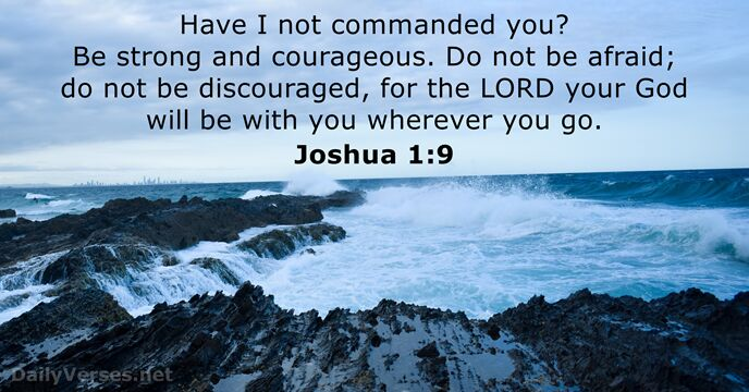 Joshua 1:9 - Bible verse of the day - DailyVerses.net