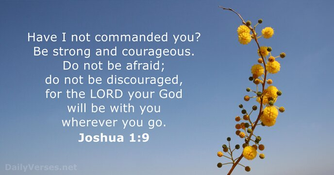 Image result for joshua 1:9