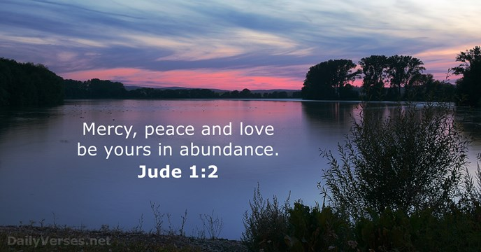 Jude 1:2 - KJV - Bible verse of the day - DailyVerses net
