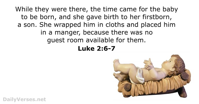 Luke 2 6 7 Bible Verse Of The Day Dailyverses Net