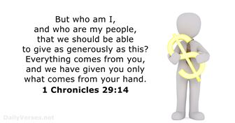 1-chronicles 29:14