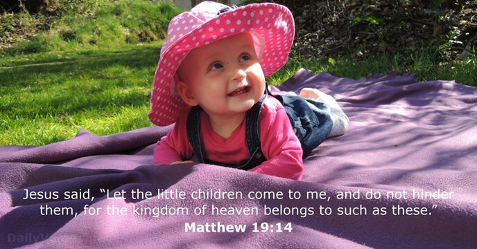 February 7, 2015 - Bible verse of the day - Matthew 19:14