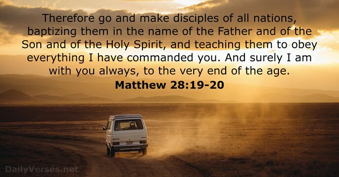 Image result for Matthew 28:20