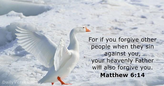 Matthew 6:14 - Bible verse of the day - DailyVerses.net