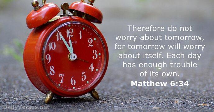 Bible Verse Powerpoint Slides for Matthew 6:34