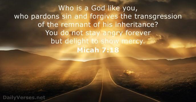 Micah 7:18