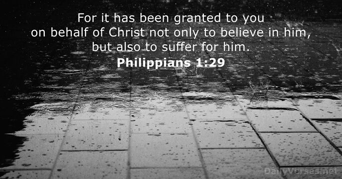Philippians 1 29 - Bible Verse Of The Day