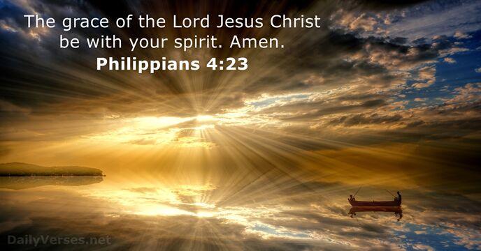 Philippians 4:23