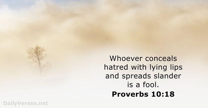 Proverbs 10:18
