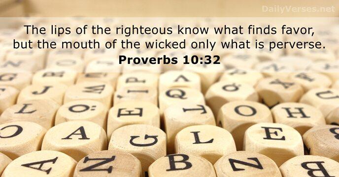 Proverbs 10:32